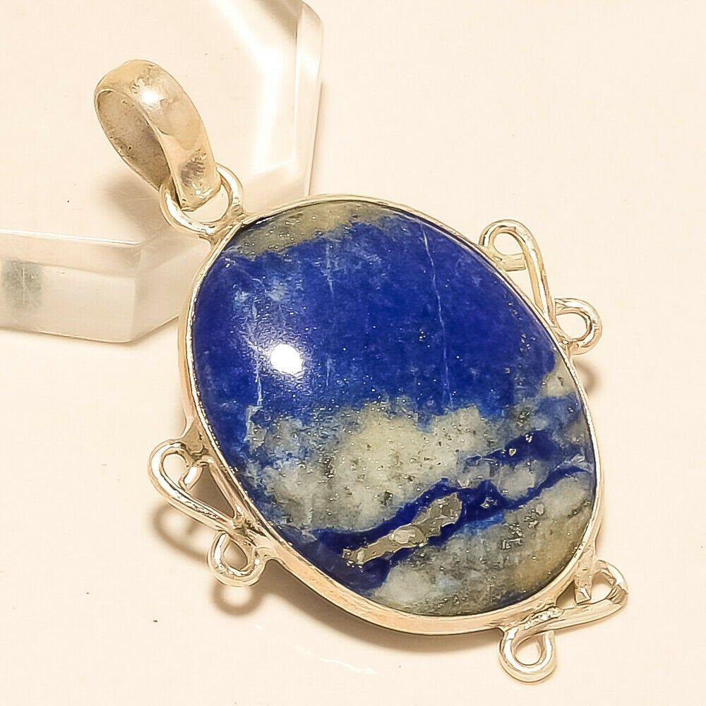Natural Lapis Lazuli IN Malachite Pendant 925 Sterling Silver Fine Jewelry Gifts Handmade Women Fashion Designer Easter Mothers Gift Jewelry