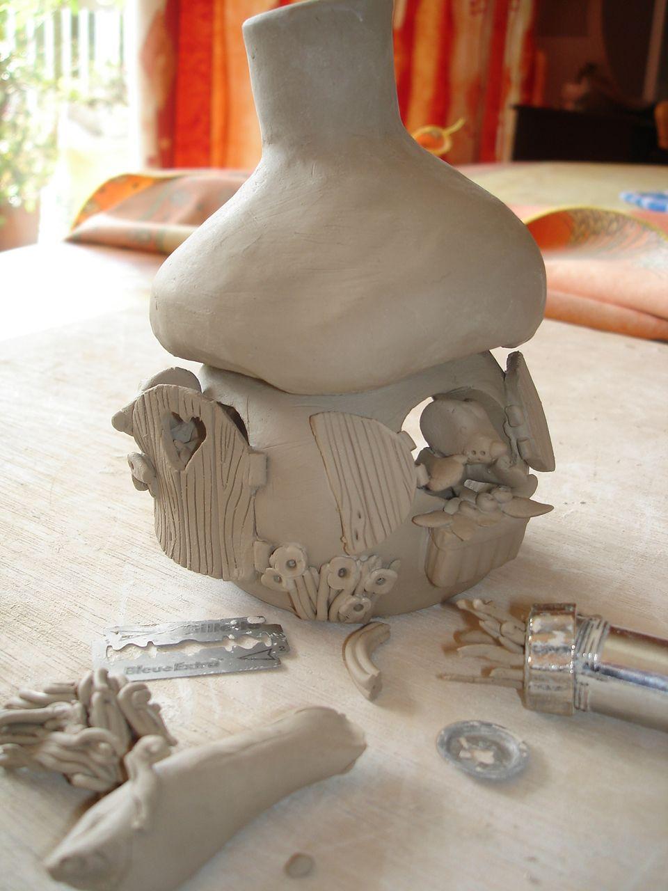 Modelage de maison champignon