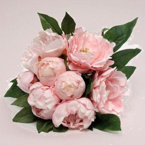 bouquet pivoines artificielles roses | bouquet fleurs