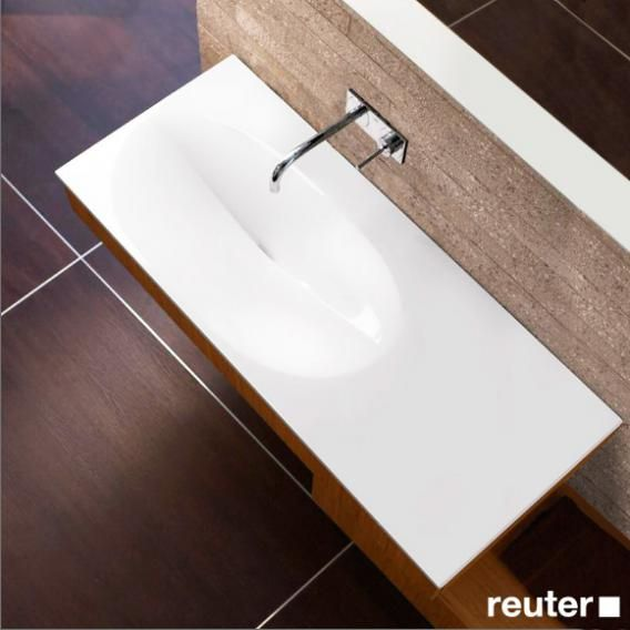Burgbad Pli Rectangular Washbasin White Mwah120lc0001 Reuter