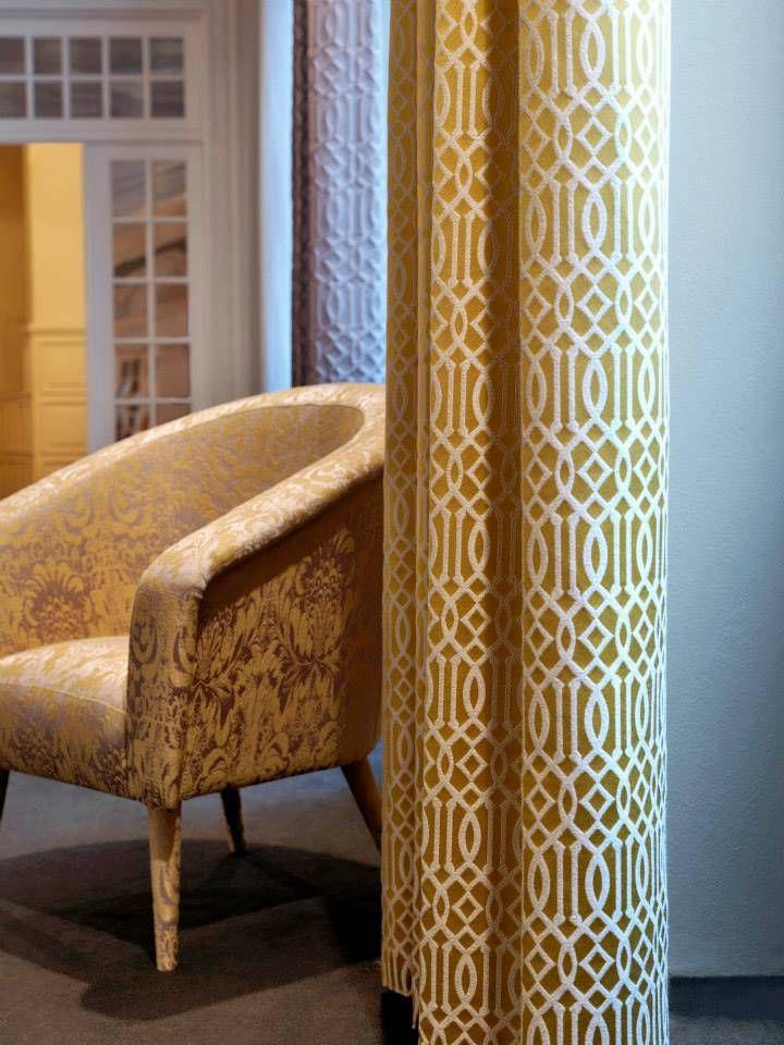Telas en amarillo para tapizar hacer cortinas cortinas y cojines villalba interiorismo - Tapiceria villalba ...