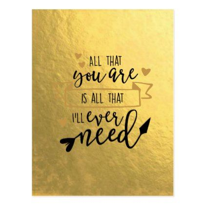#gold - #All That You Are Gold Leaf Postcard