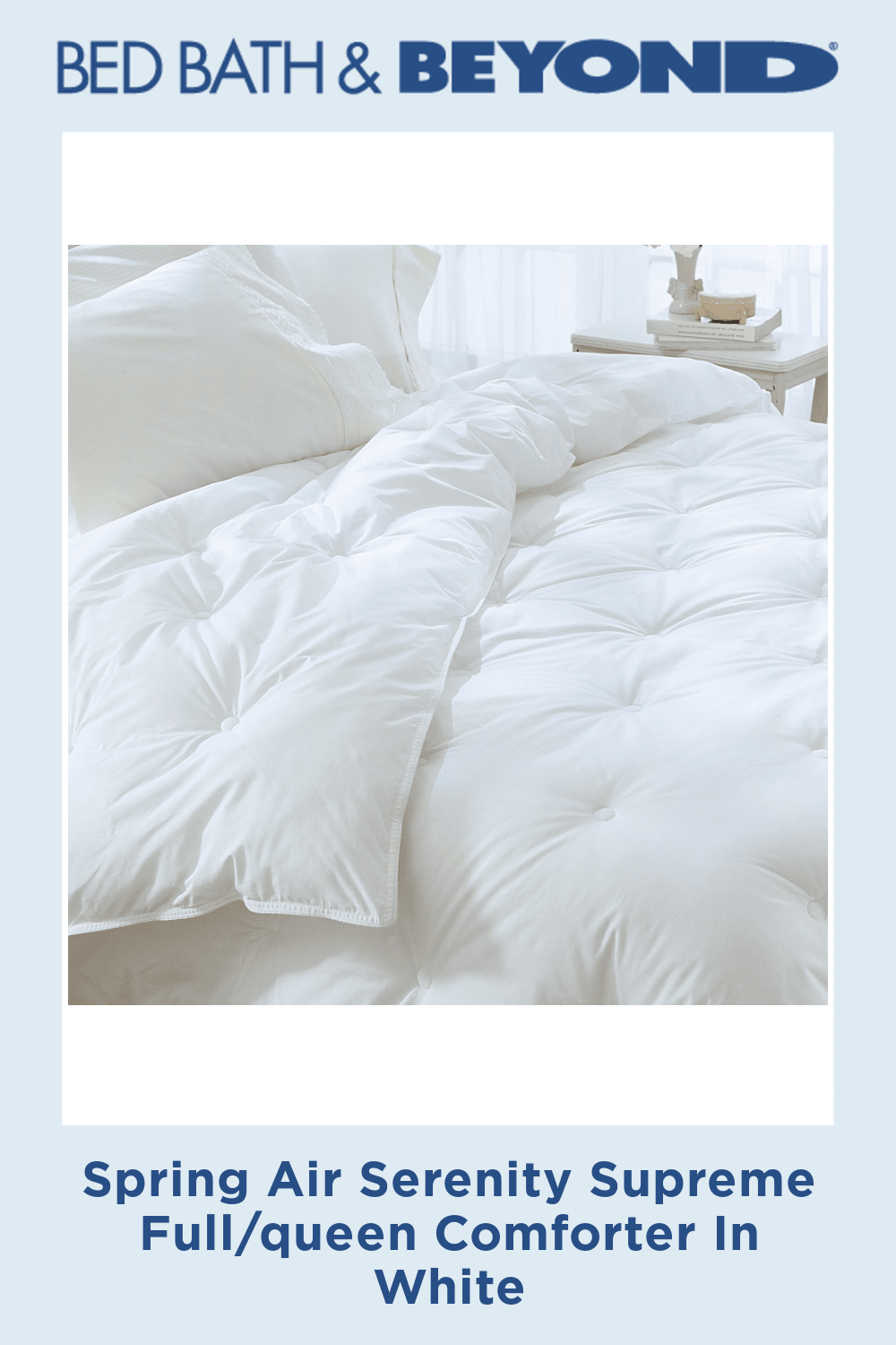 Photo of Spring Air Serenity Supreme Full/queen Comforter In White