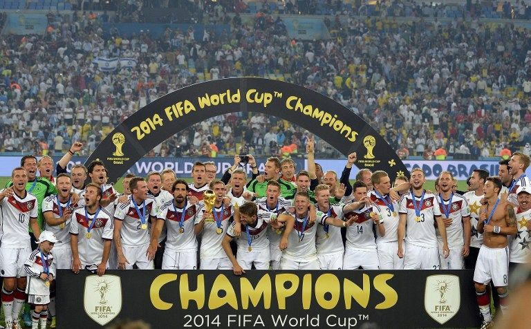 Deutschland Ist Weltmeister 2014 Im Maracana Stadium In Rio De Janeiro Gewinnt Die Deutsche Fussballnationa Deutschland Trikot Weltmeister Fussball Weltmeister