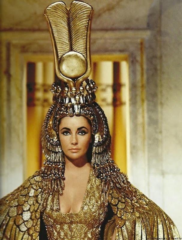 an amazing gold egyptian costume taylor elizabeth taylor