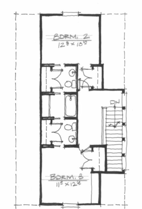 House plans with jack and jill bathrooms amazing with for Built in tub dimensions