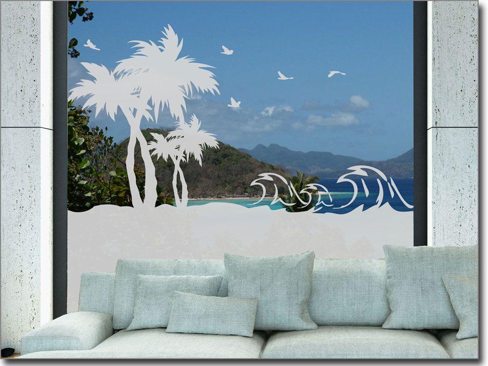 Glasbild Meerblick Sichtschutzfolie fürs Fenster - folie für badezimmerfenster