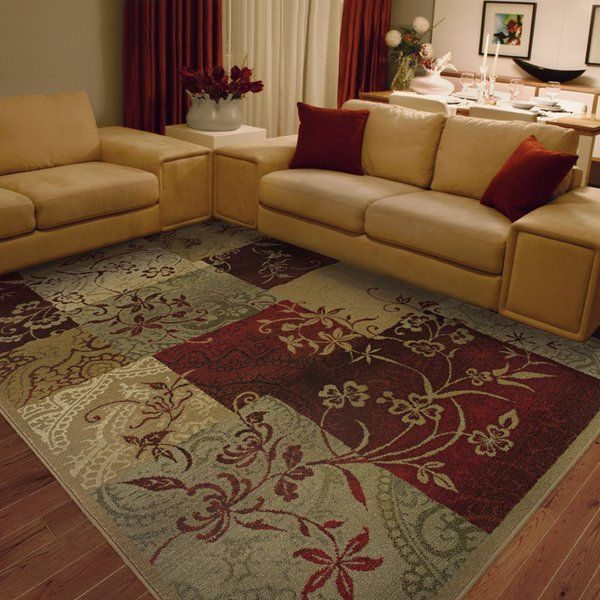 Sabanc Floral Red Area Rug With Images Burgundy Living Room Beige Area Rugs Contemporary Rugs Living Room