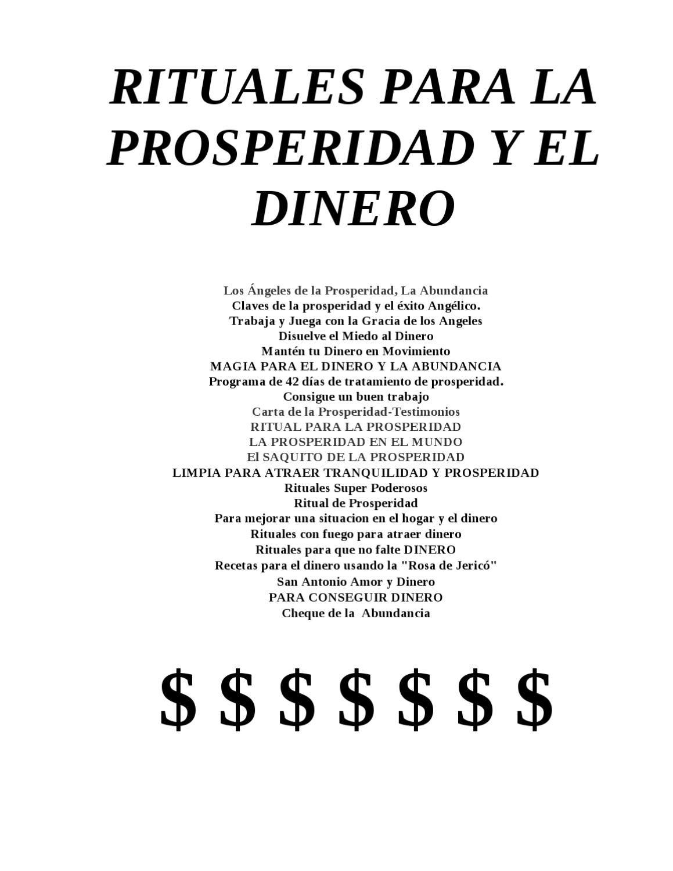 Rituales para la prosperidad y el dinero el lado - Rituales para la buena suerte ...
