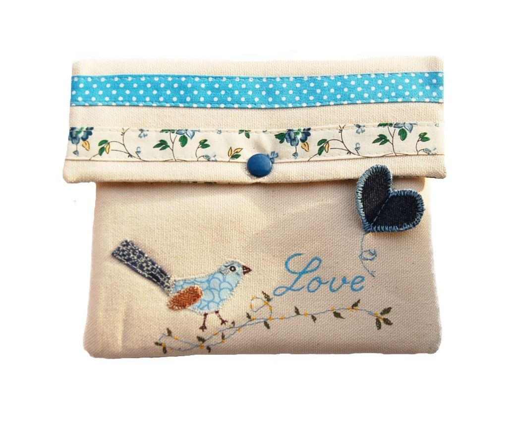 Jolie pochette piou bleu, love : Trousses par ephemerecollection