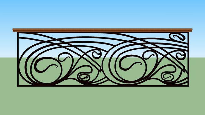 Art Nouveau Rail 2 - 3D Warehouse A railing to divide a cection