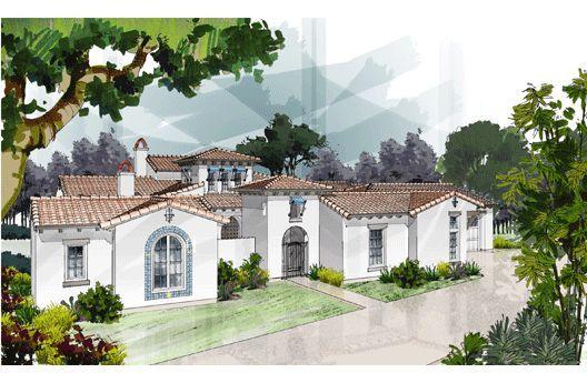 European Style House Plan 4 Beds 3 5 Baths 3891 Sq Ft Plan 417 413 Spanish Style Homes Mediterranean House Plans Mediterranean Homes