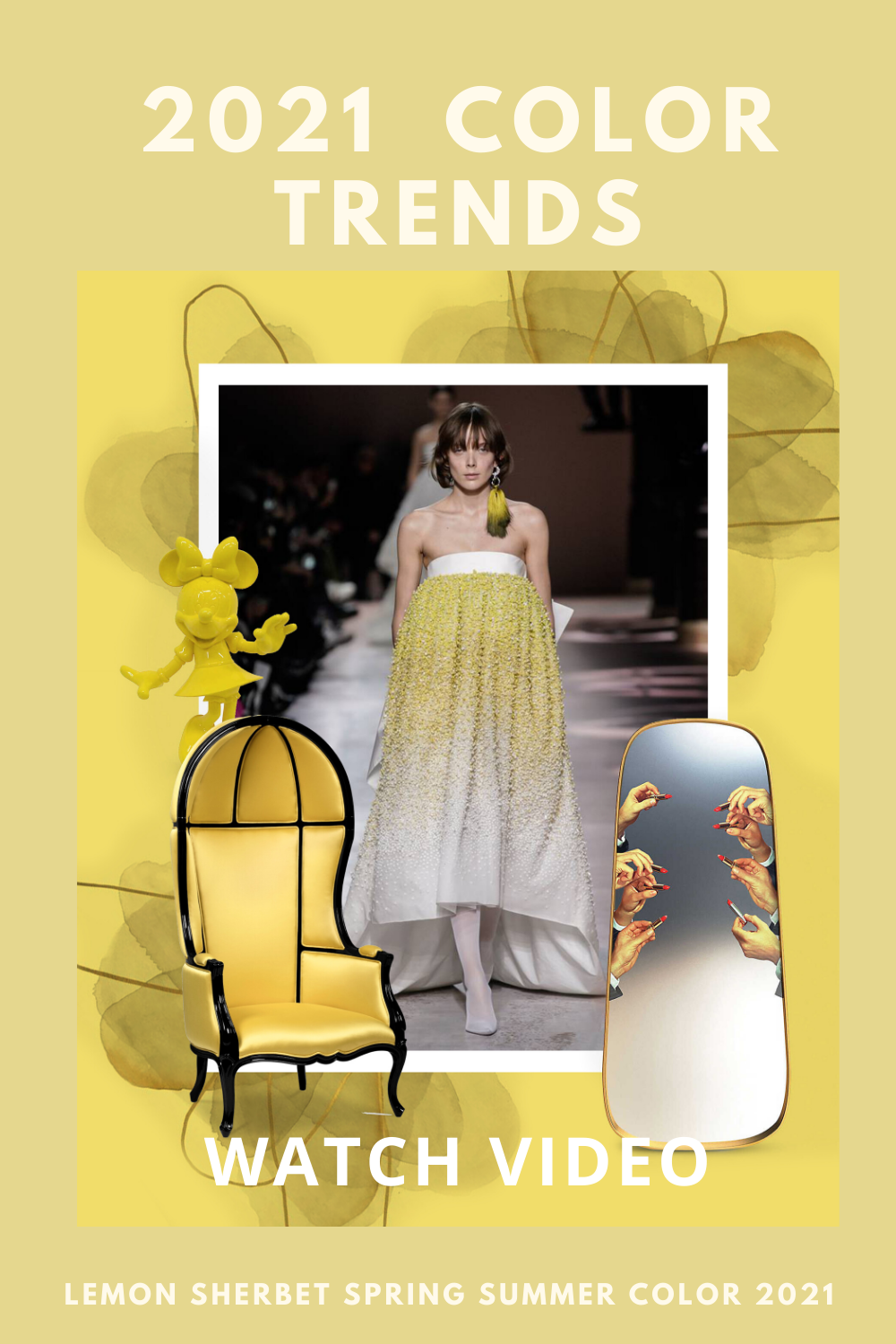 Lemon Sherbet Spring Summer Color Trend 2021 In 2020 Color Trends Color Trends Fashion Summer Color Trends