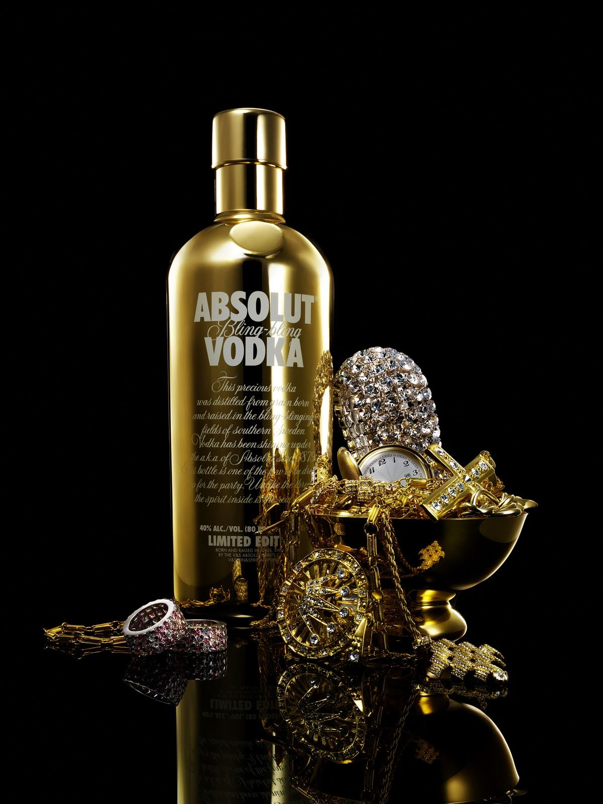 Absolut Vodka - Limited Edition: Absolut Bling-Bling (2006 ...