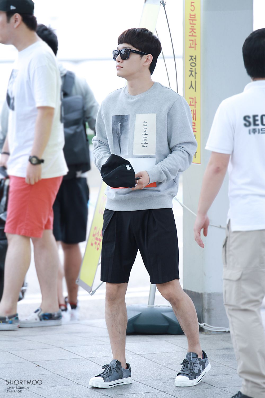 150911: EXO Chen (Kim Jongdae); Incheon Airport to Chongqing Airport #exom #fashion #style #kfashion #kstyle #kpop
