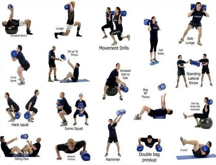 sandbag workout pdf - Google Search   Workout   Pinterest ...