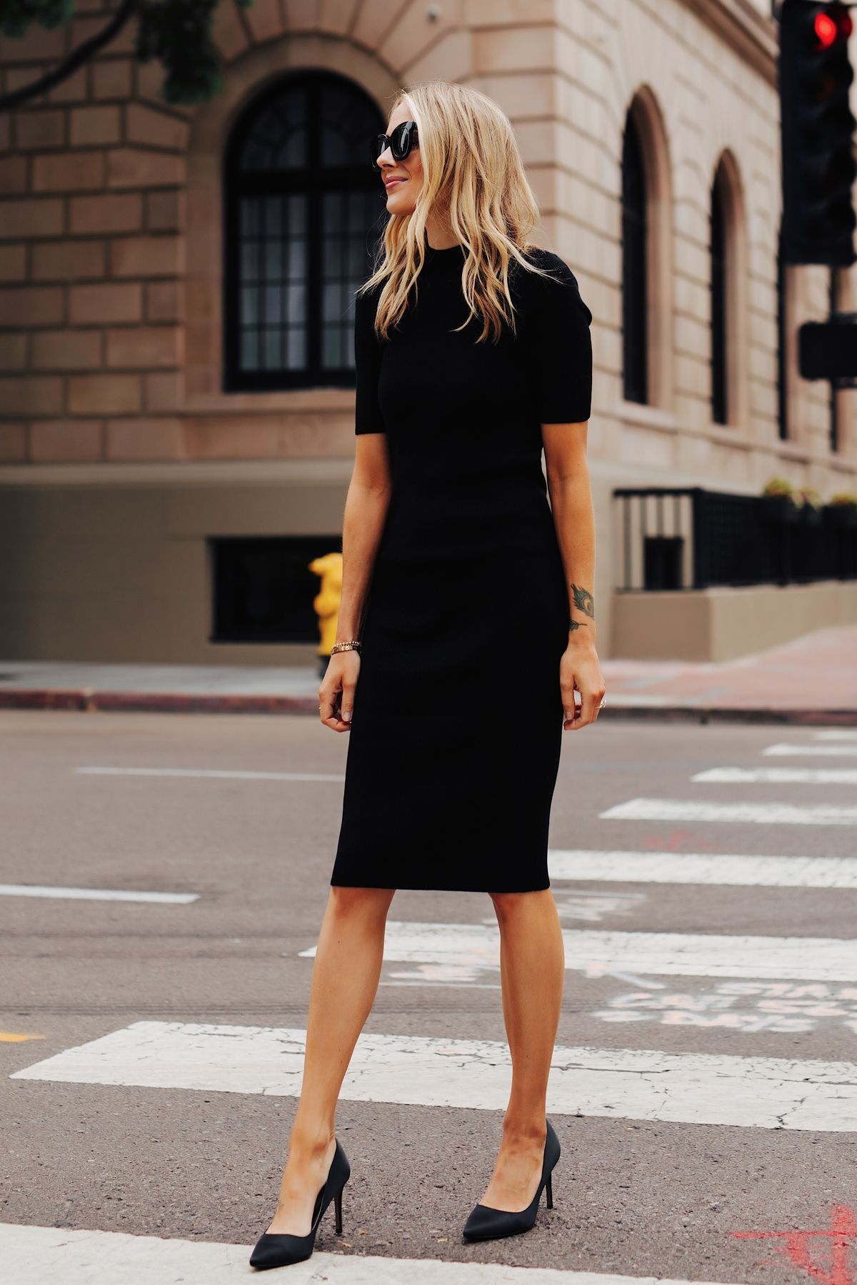Fashion Jackson Fashion Jackson Black Dresses Casual Black Midi Dress [ 1800 x 1200 Pixel ]