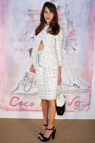 7fac8cea76b STYLE  70  Caroline Sieber in all white Chanel adds contrasting black with  her shoes