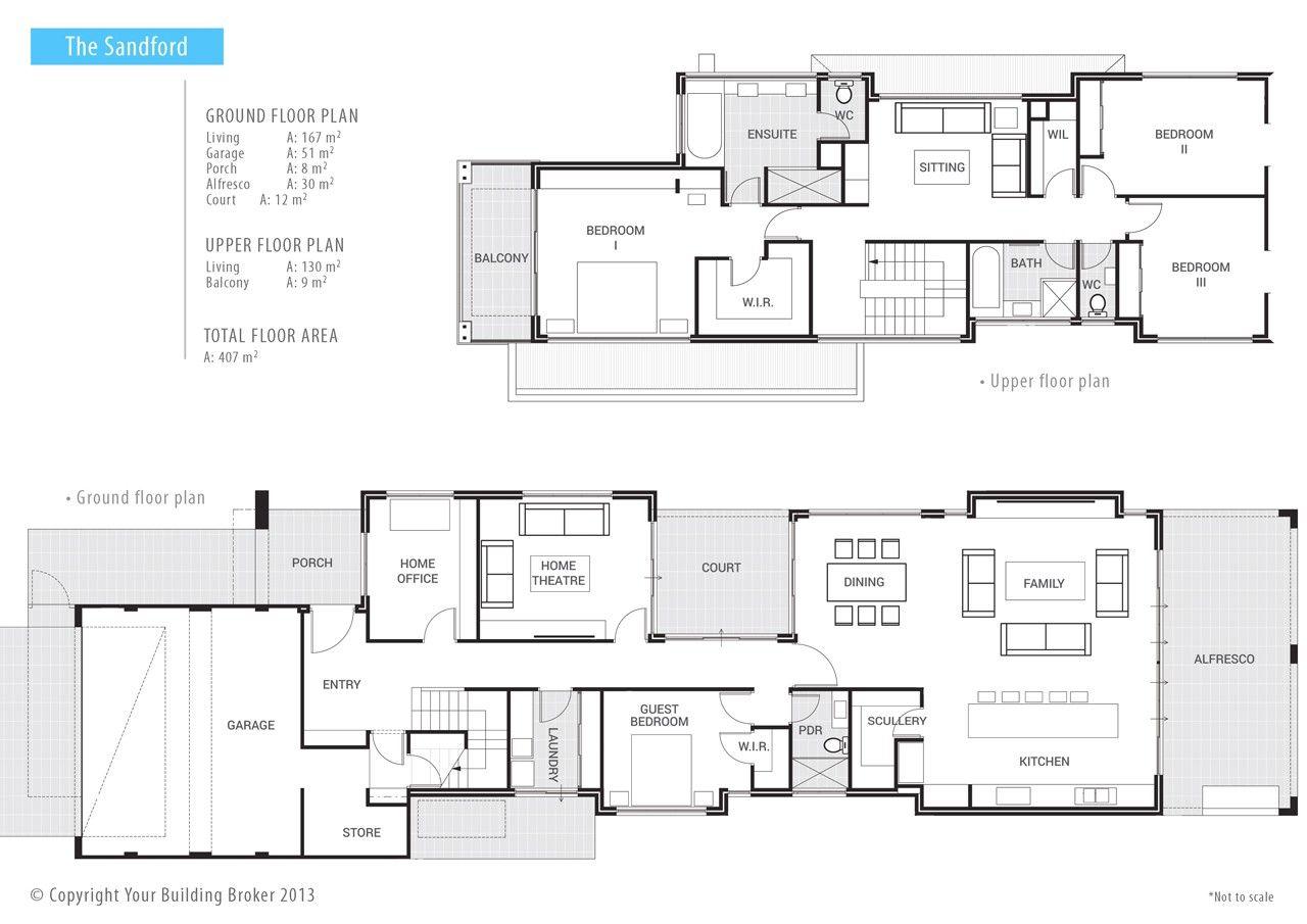 Your Building Broker The Sandford 2 Storey Narrow Lot Home Narrow House Plans Home Design Floor Plans Narrow Lot House