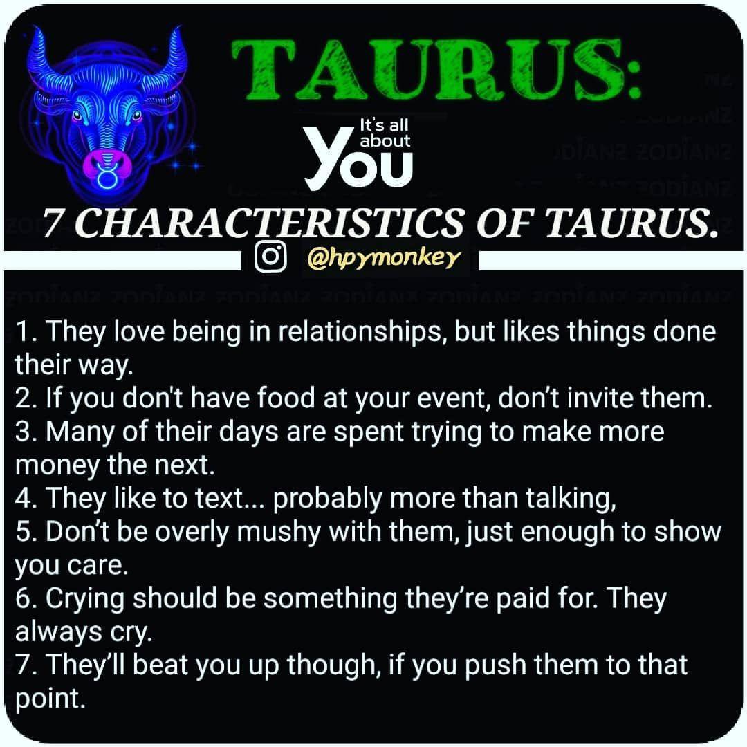 No photo description available. | Taurus quotes, Horoscope