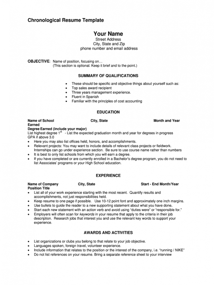 10 Printable Fill In The Clean Resume Type 10 Printable