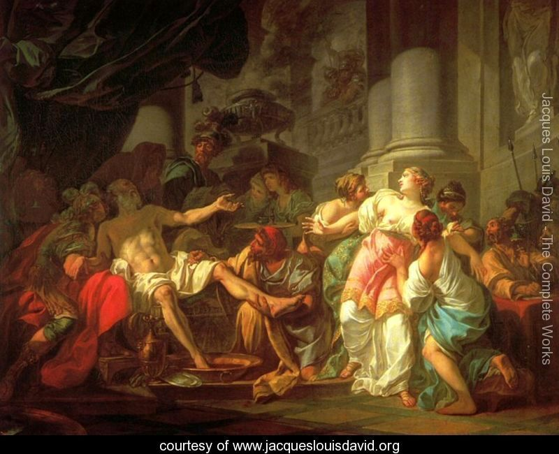 The Death of Seneca is a 1773 painting by Jacques-Louis David, now at