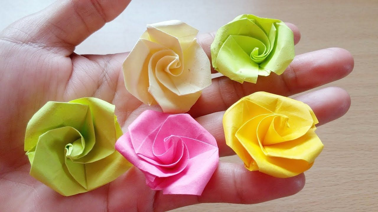 Origami Easy Origami Rose From Post It Note Fast Little Projects