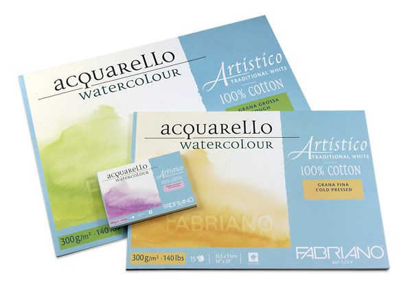 Fabriano Artistico Watercolor Blocks 140 Lb Cold Press 10 Sheet