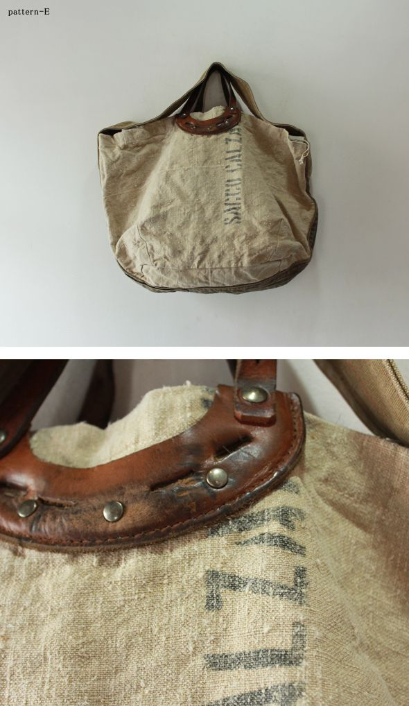 vintage bag with leather handle