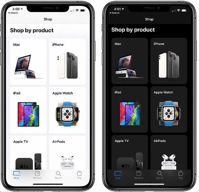 Dark Mode for Apple Store App Now Rolling Out #AppleStore #AppStore #AppleiPhone #iPhone #darkmode