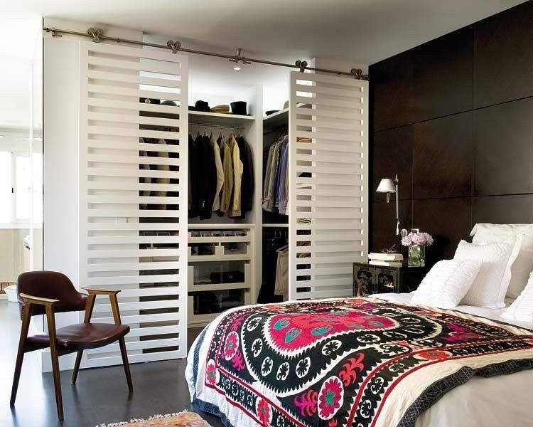 Une porte coulissante gain de place Portes Pinterest Dressing - guide porte coulissante placard