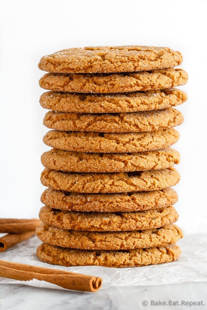 These soft and chewy ginger cookies are one of our favourite