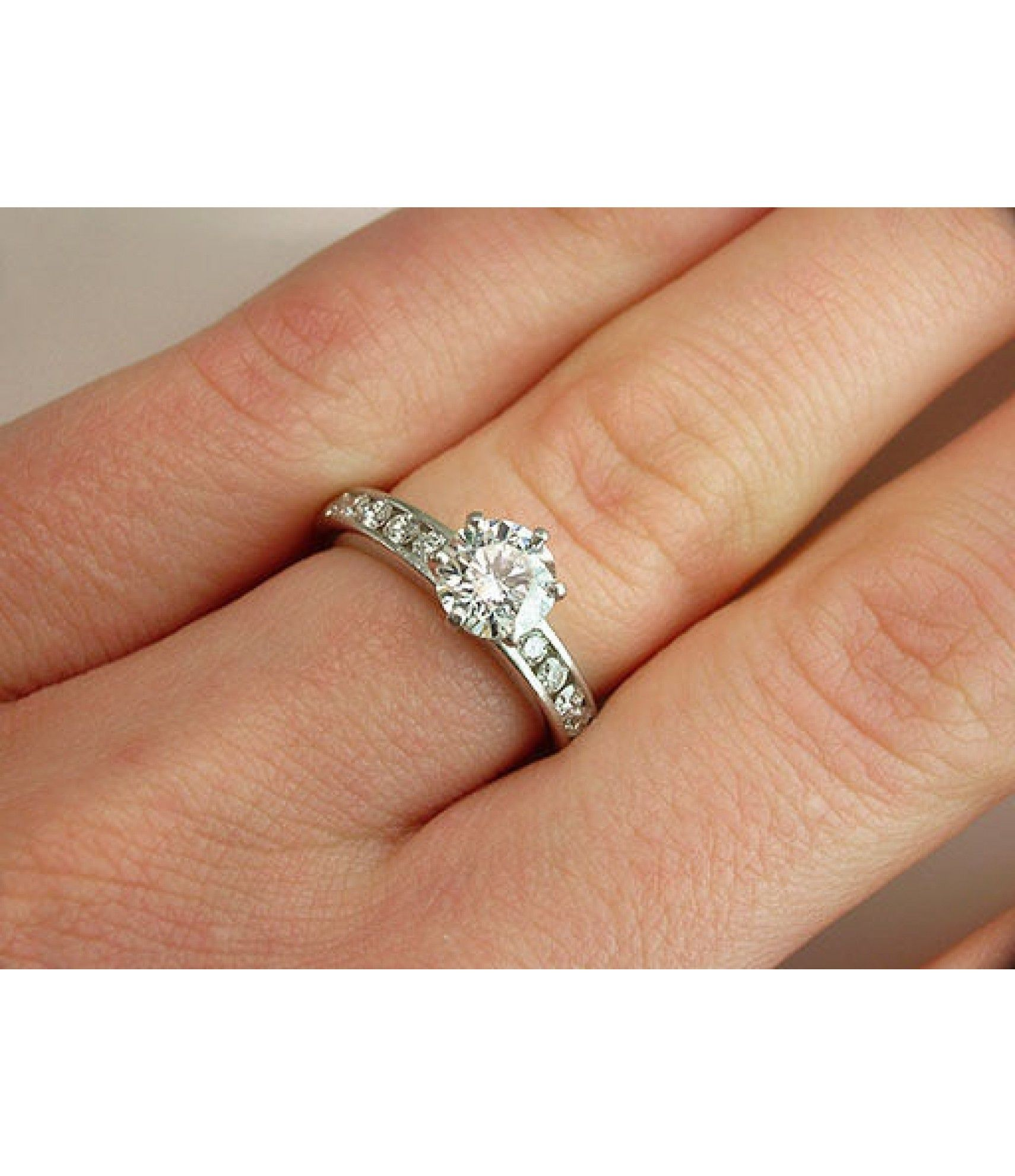 af25eab93 TIFFANY & CO. GIA CERTIFIED 1.41CT H-VS2-IDEAL DIAMOND PLATINUM ENGAGEMENT  RING $10,950