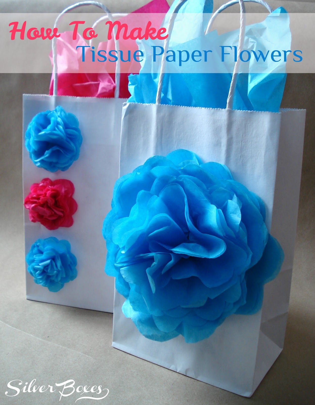 Silver Boxes How To Make Tissue Paper Flowers Diy Pinterest