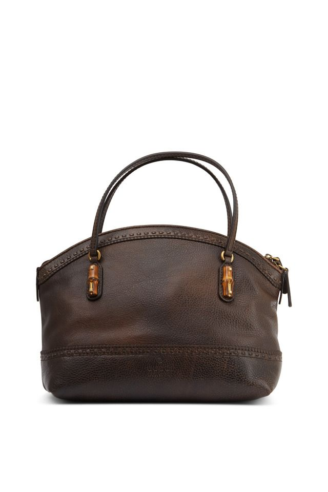 fa8610352c6f Gucci - Laidback Crafty Brown Leather Dome Shoulder Bag   Shop Online