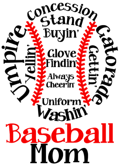 Baseball Mom T Shirt And Hoodie Design Idea. Great For High School Spirit  Apparel