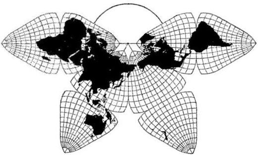 Undistorted World Map