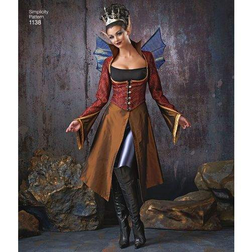 Simplicity 1293 Sewing Pattern Fantasy Fairy Wings Hoodie Costume NEW UNCUT 6-22