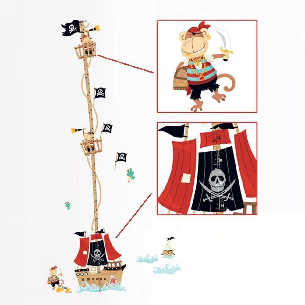 Epic Piratenzimmer Messlatte Kinder wandtattoo Piratenschiff Tolle Wanddeko f r das