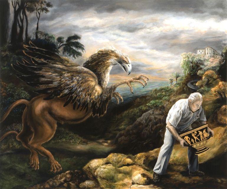 "Saatchi Art Artist: Catherine Bennaton; Oil 2007 Painting ""The Collector"""