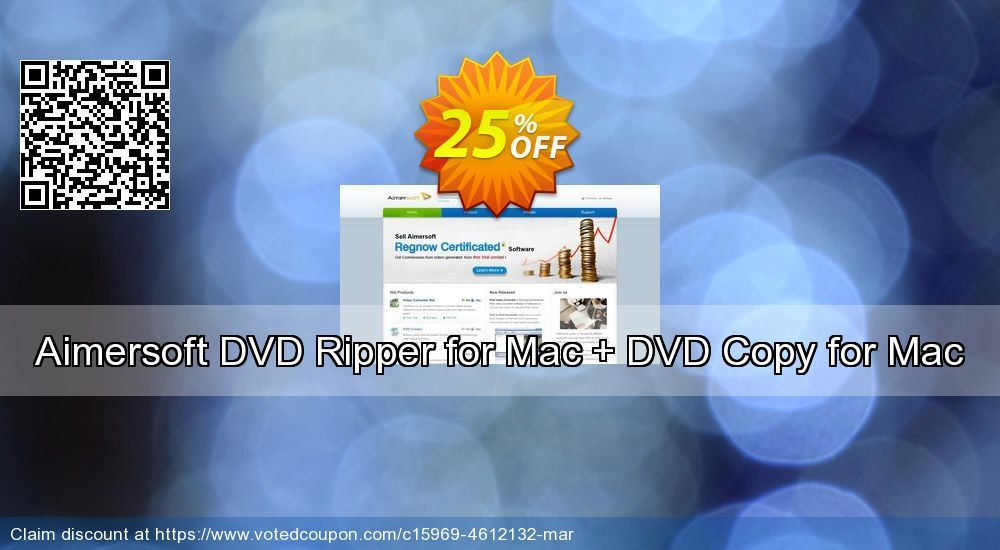 Aimersoft DVD Ripper for Mac + DVD Copy for Mac Coupon 30