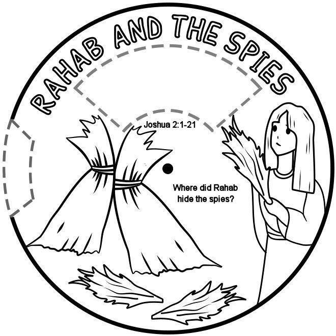 Rachab en de verspieders 1a / Rahab hides the spies