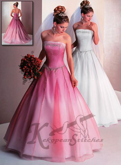 pretty pink dresses order white box pleated bridal gown or pretty in pink bridesmaid