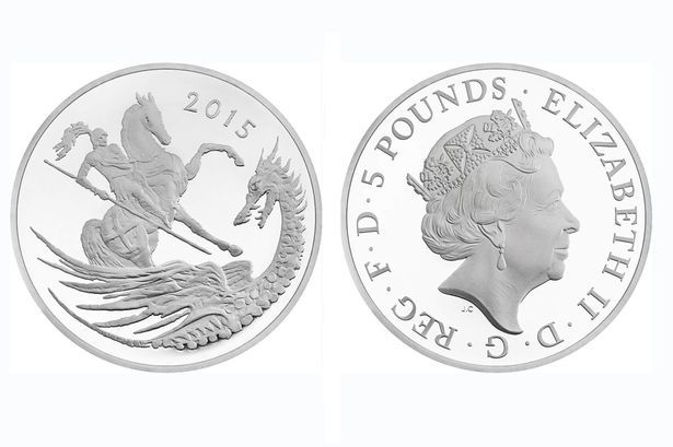 The commemorative coin celebrating Prince George's 2nd birthday on 22 July 2015.