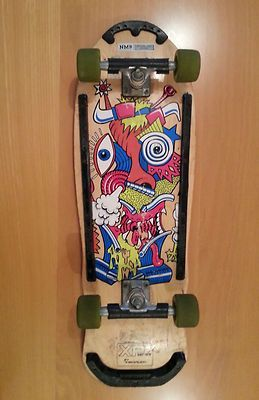 Vintage 1989 80s Nash Skateboard Dream Street Original Yellow