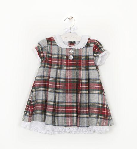 Moda Niña Cuadro Escocés Escoces Vestido Infantil 7p0q4Ixw