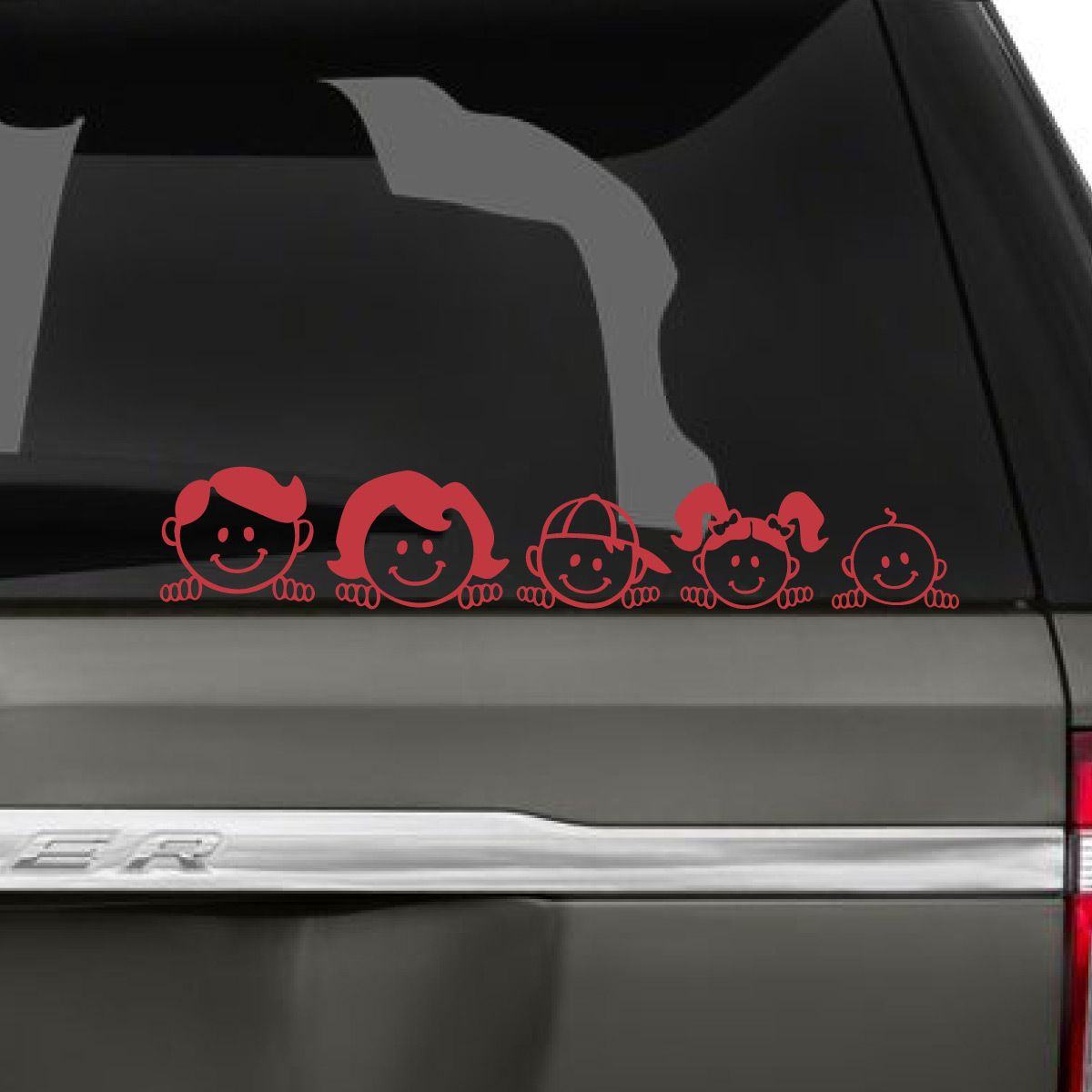 Peeping Family Car Decal Family Car Decals Family Car Family Car Stickers [ 1200 x 1200 Pixel ]
