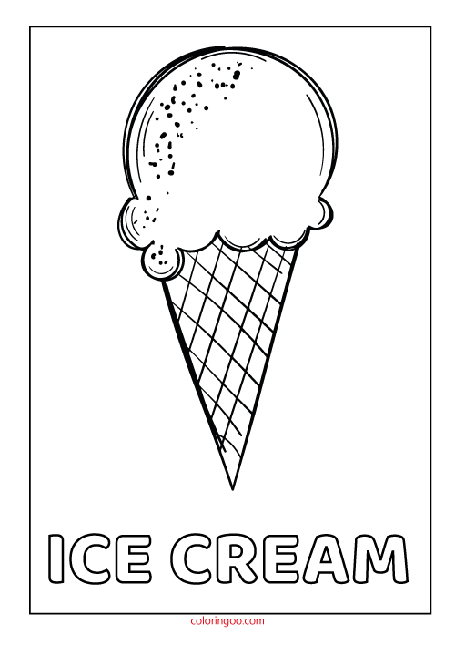 Printable Ice Cream Pdf Coloring Pages For Kids Ice Cream Coloring Pages Coloring Pages For Kids Coloring Pages