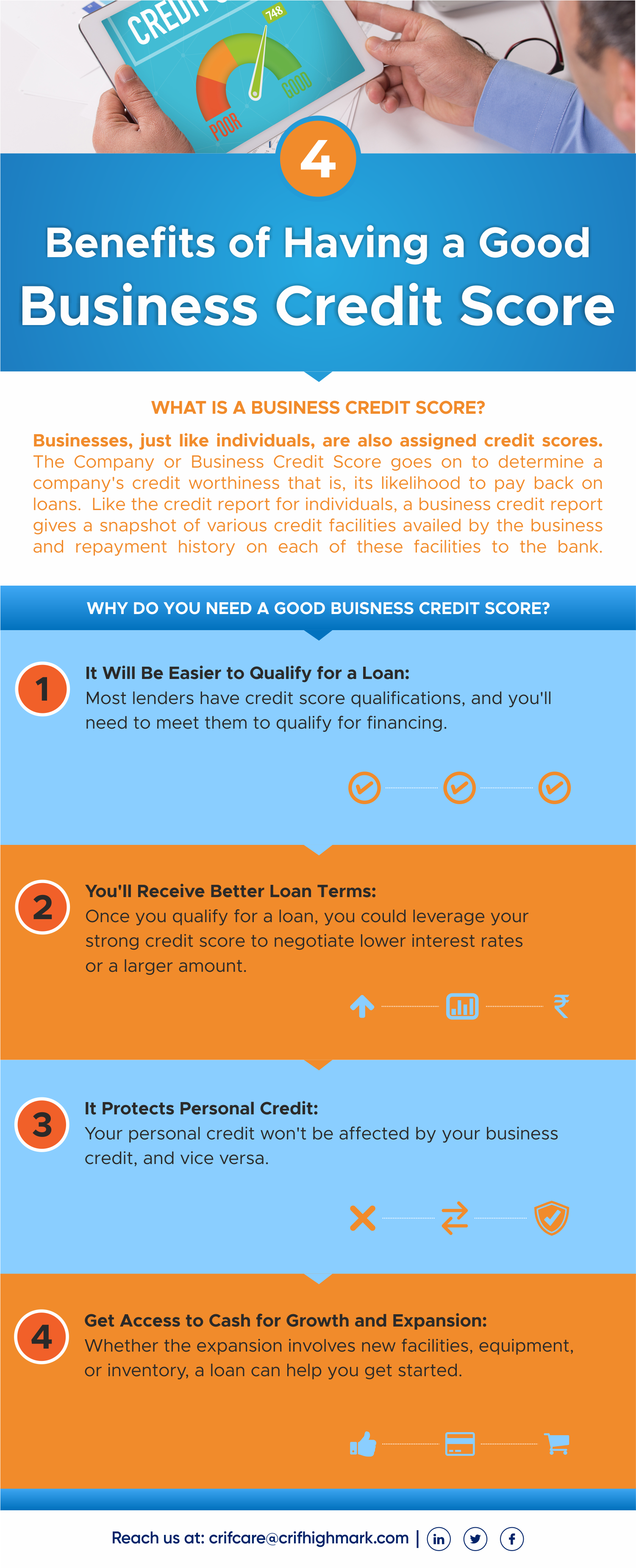 Benefits Of A Good Business Credit Score Include Being Able To Easily Qualify For A Loan Receiving Better Loan Terms P Credit Score Credit Bureaus Best Loans