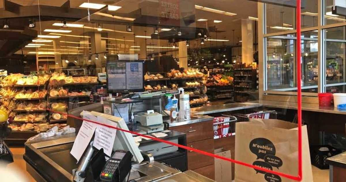 IGA Has Installed Plexiglass In Front Of Cash To Protect